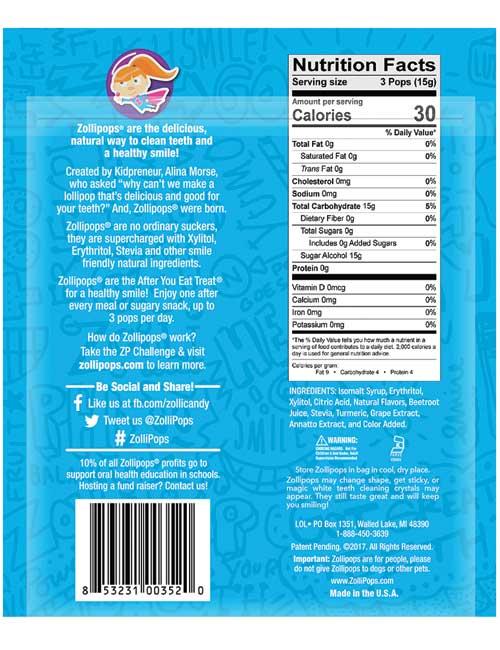 Zolli Pops 3.1 oz Fruit Assortment